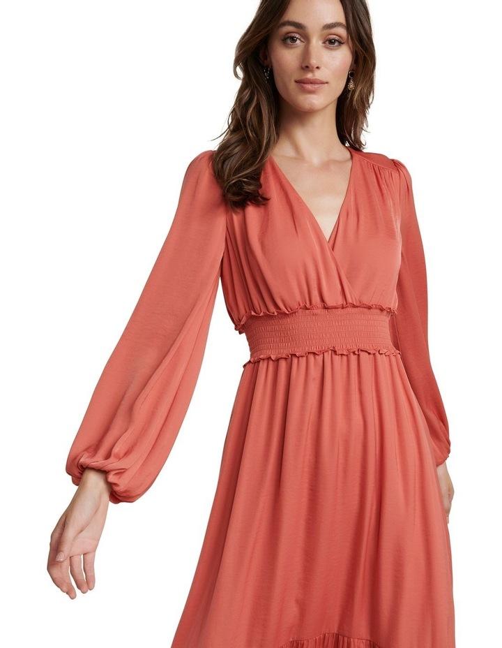 Eloise Long Sleeve Tiered Midi Dress image 2