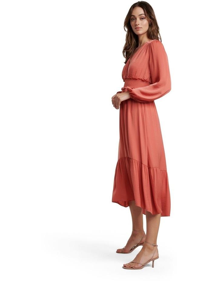 Eloise Long Sleeve Tiered Midi Dress image 3
