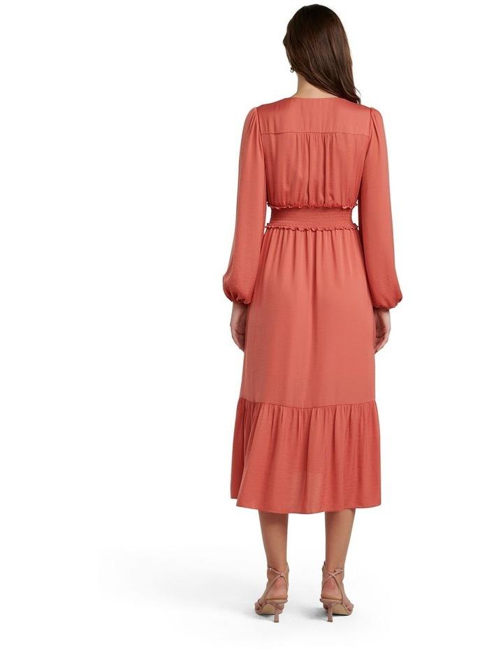 Eloise Long Sleeve Tiered Midi Dress image 4