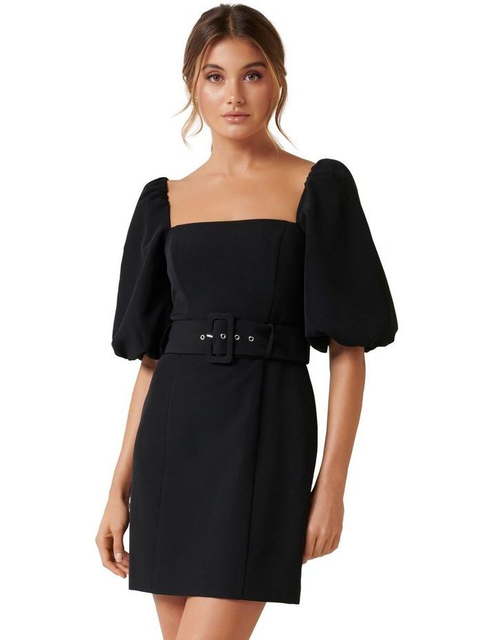 Henley Puff Sleeve Mini Dress image 1