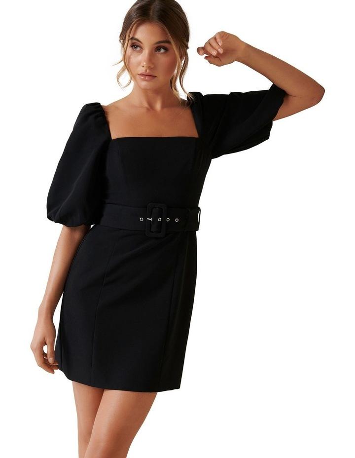 Henley Puff Sleeve Mini Dress image 3