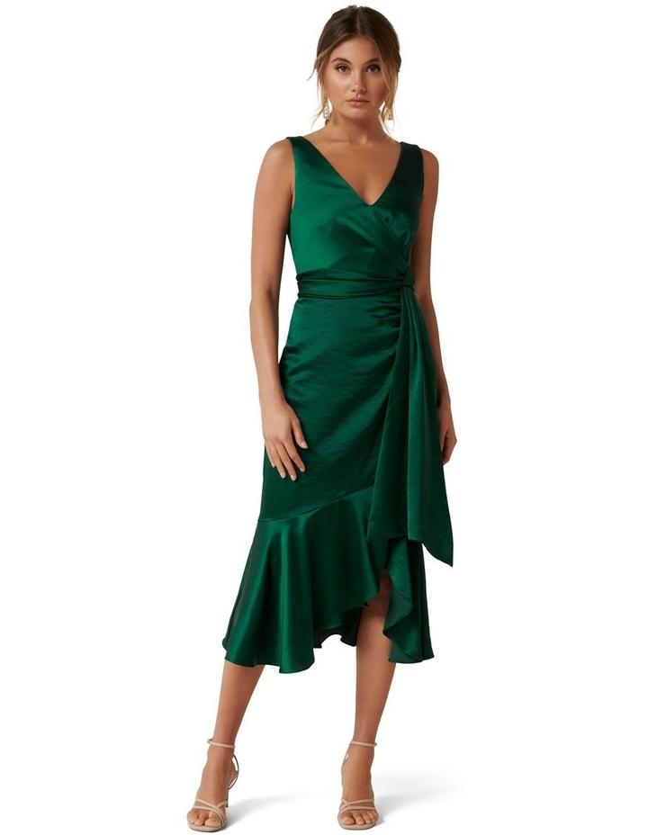 Gracelyn Satin Wrap Midi Dress image 1