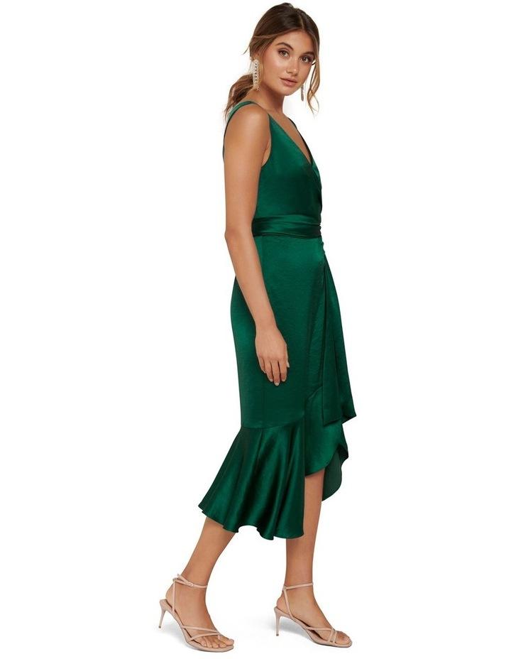Gracelyn Satin Wrap Midi Dress image 3