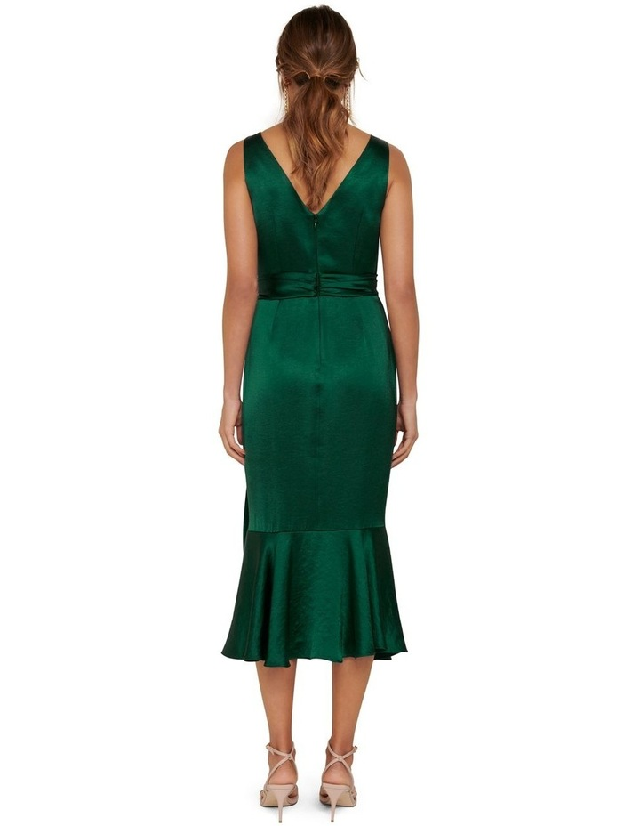 Gracelyn Satin Wrap Midi Dress image 4