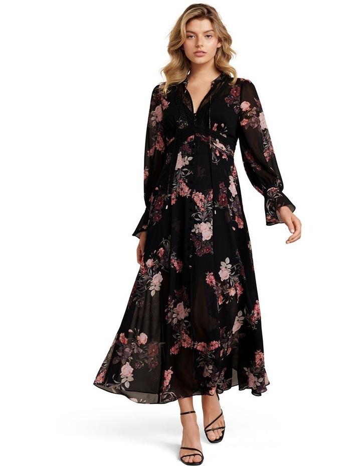 Natalia Petite Lace Trim Maxi Dress image 1
