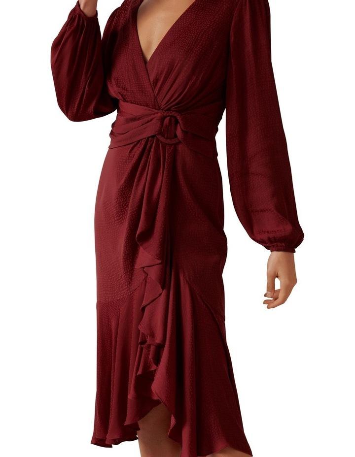 Lilian Balloon Sleeve Midi Dress image 2