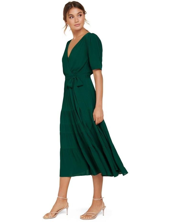 Jordan Puff Sleeve Tiered Midi Dress image 3