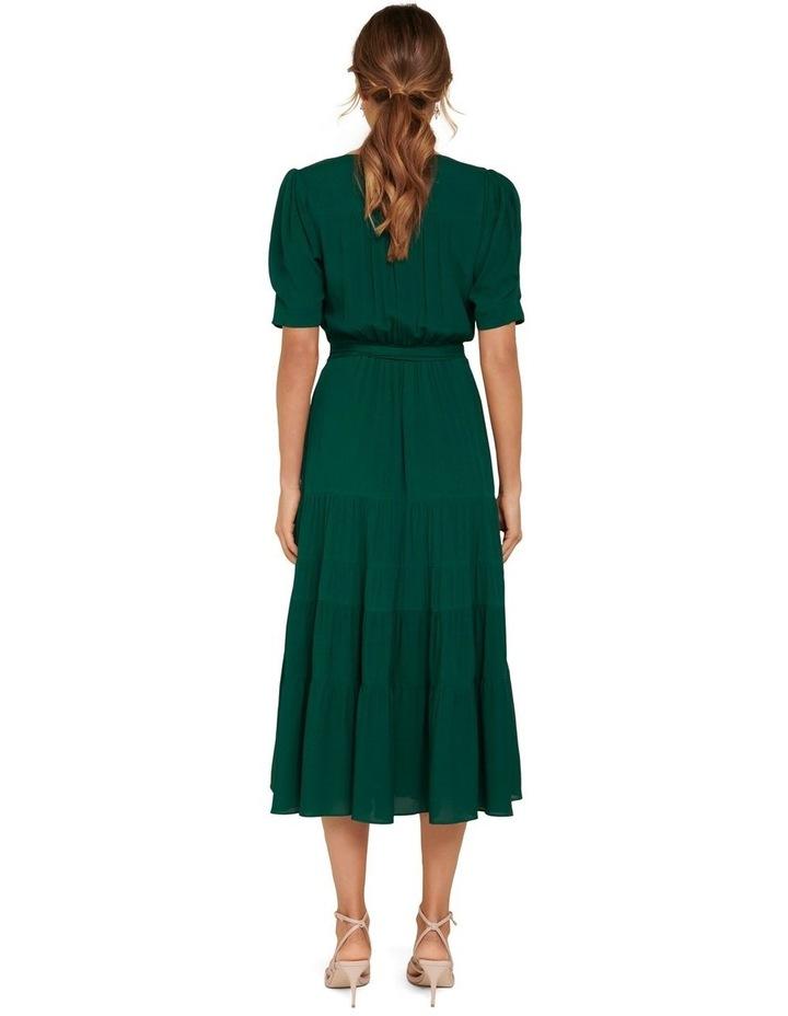 Jordan Puff Sleeve Tiered Midi Dress image 4