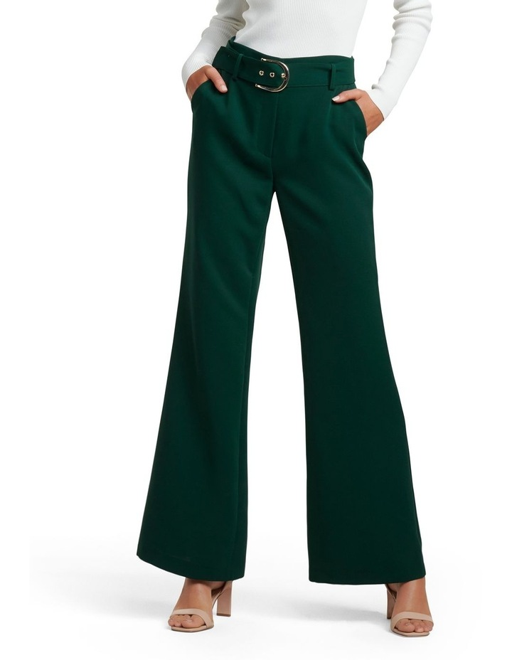 Edith Belted Flare Pants image 1