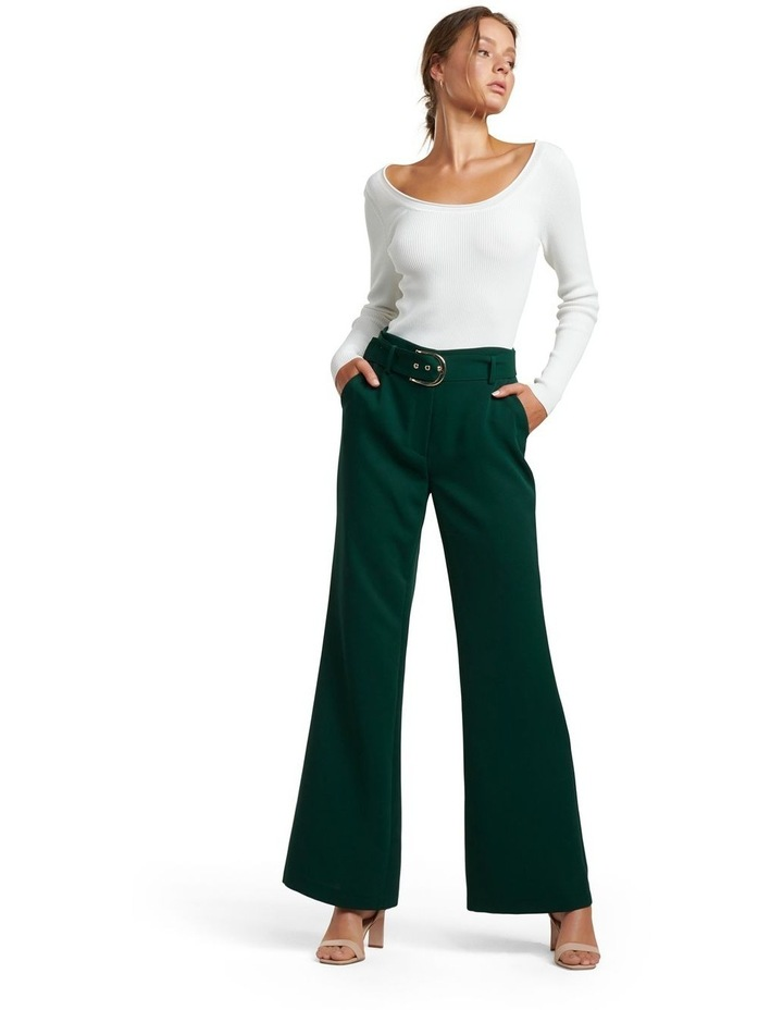 Edith Belted Flare Pants image 4