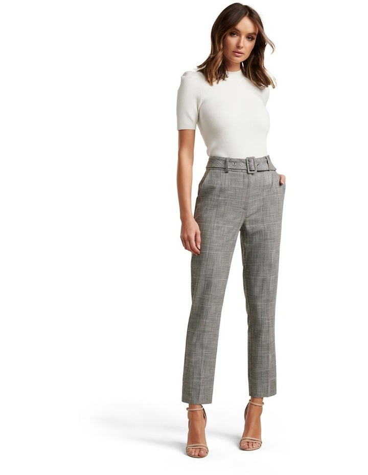 Courtney Check Belted Pants image 1