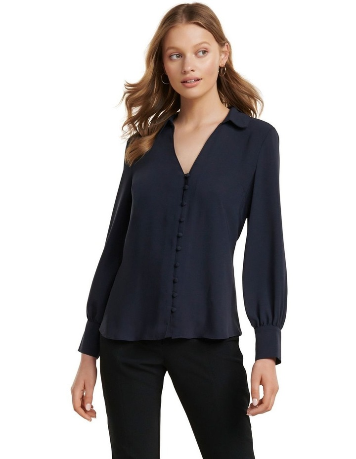 Larissa Button Front Relaxed Blouse image 1