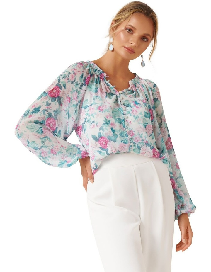 Issy Gathered Pintuck Blouse image 1