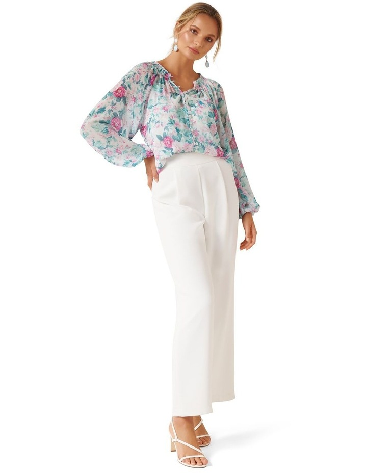 Issy Gathered Pintuck Blouse image 5