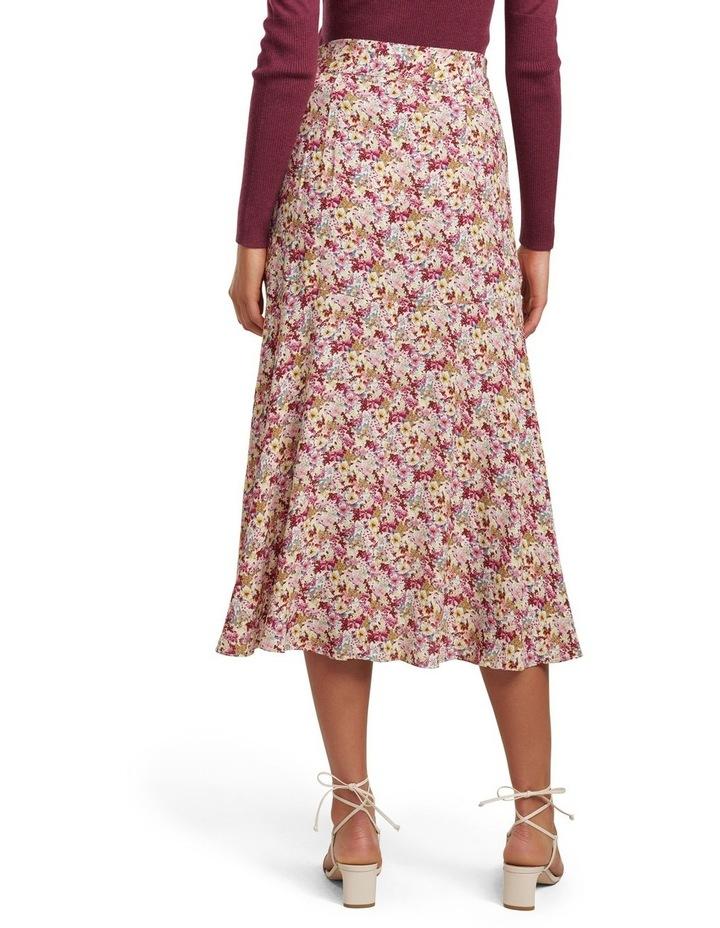 Zalie Ruched Belted Midi Skirt image 3