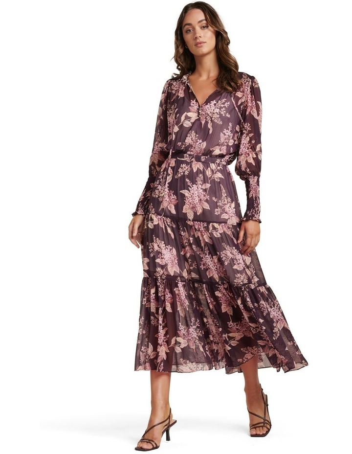 Violet Tiered Midi Dress image 1