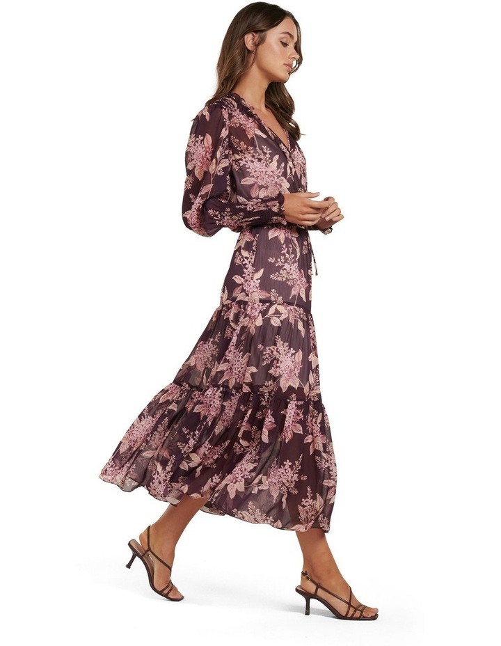 Violet Tiered Midi Dress image 3
