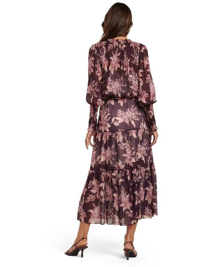 Violet Tiered Midi Dress image 4