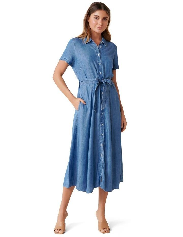 Joni Denim Midi Dress image 1