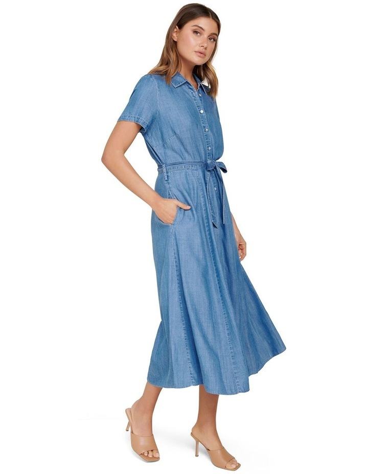 Joni Denim Midi Dress image 2