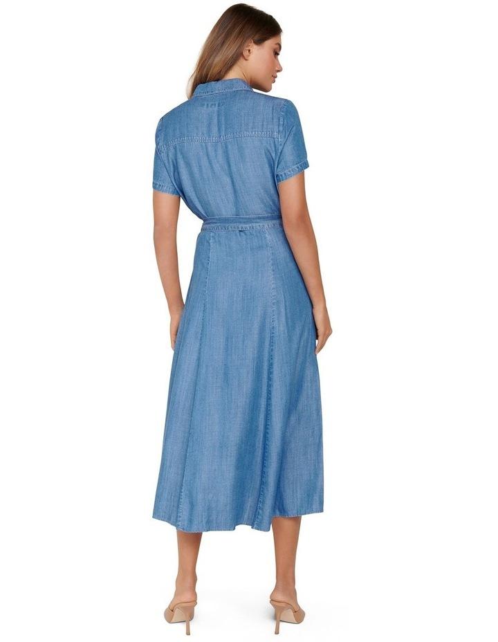 Joni Denim Midi Dress image 3
