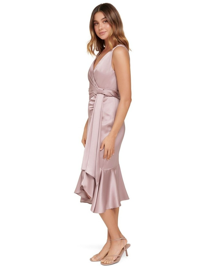 Gracelyn Satin Wrap Petite Midi Dress image 2