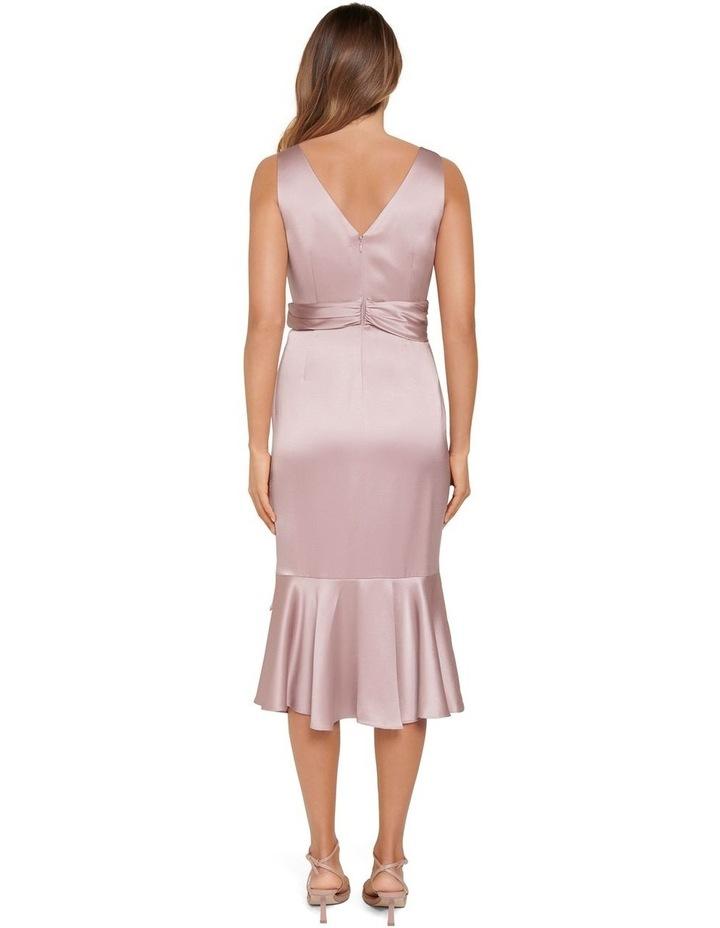 Gracelyn Satin Wrap Petite Midi Dress image 3