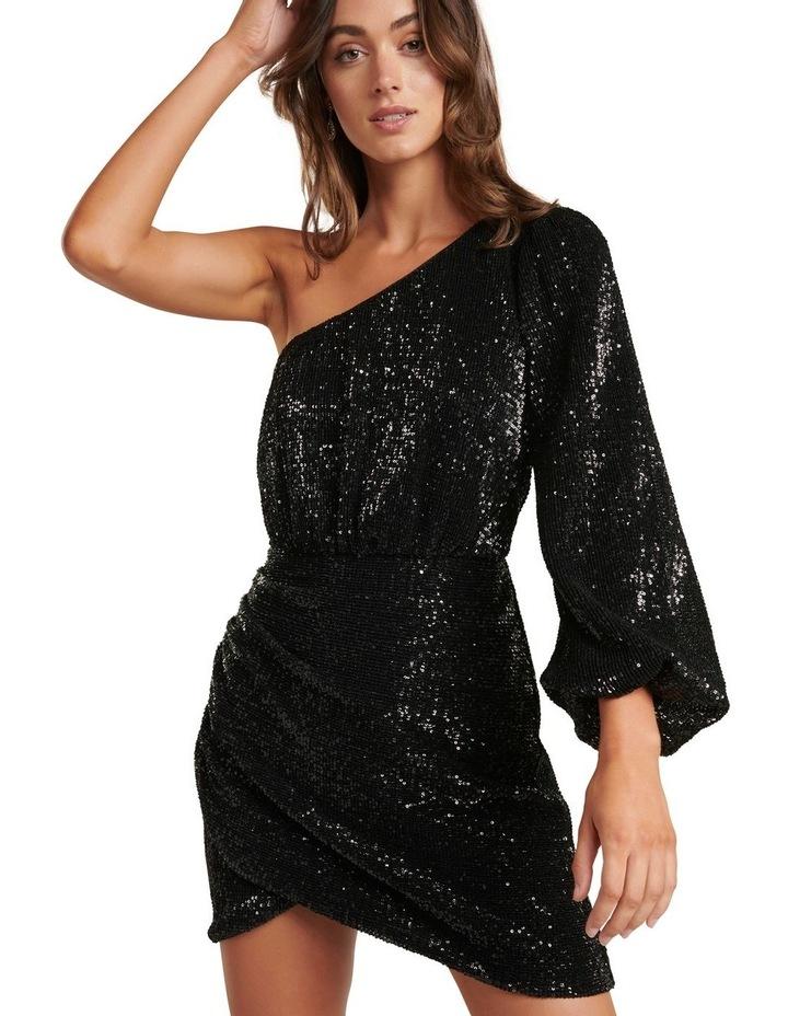 Penelope One Sleeve Sequin Dress image 2