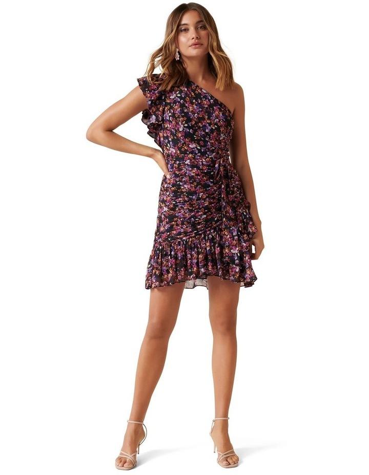 Anna One Shoulder Ruched Mini Dress image 4