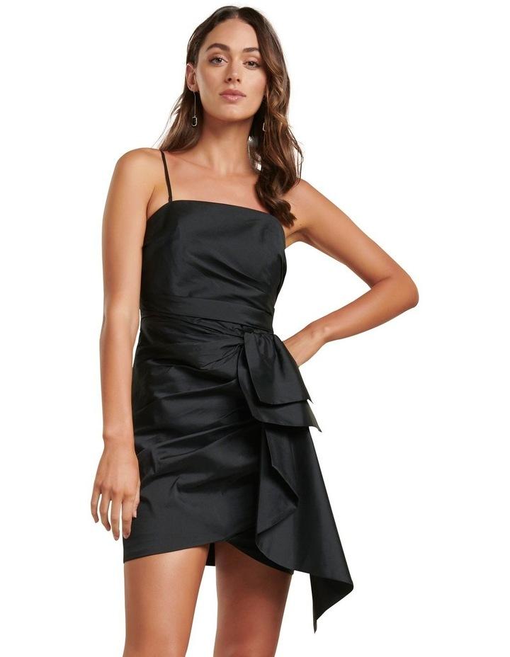 Mira Taffeta Ruched Mini Dress image 1