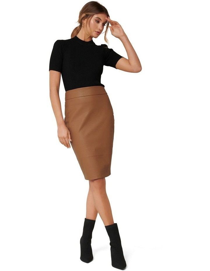 Alex Faux Leather Pencil Skirt image 4