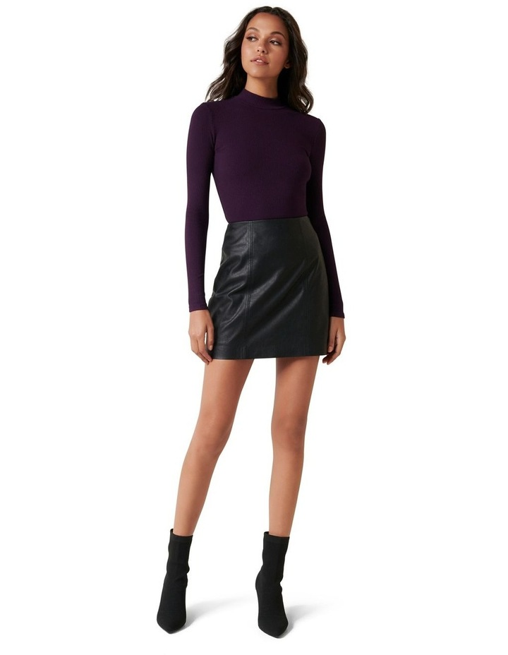 Brandi High Neck Rib Long Sleeve Top image 4
