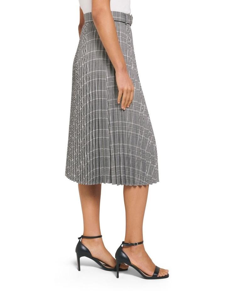 Carla Self Belt Check Pleat Skirt image 2