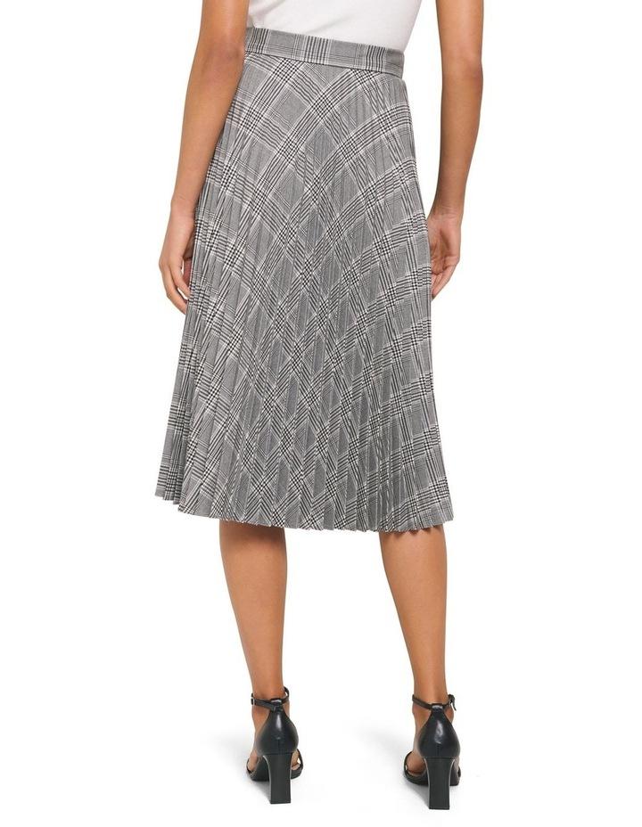 Carla Self Belt Check Pleat Skirt image 3
