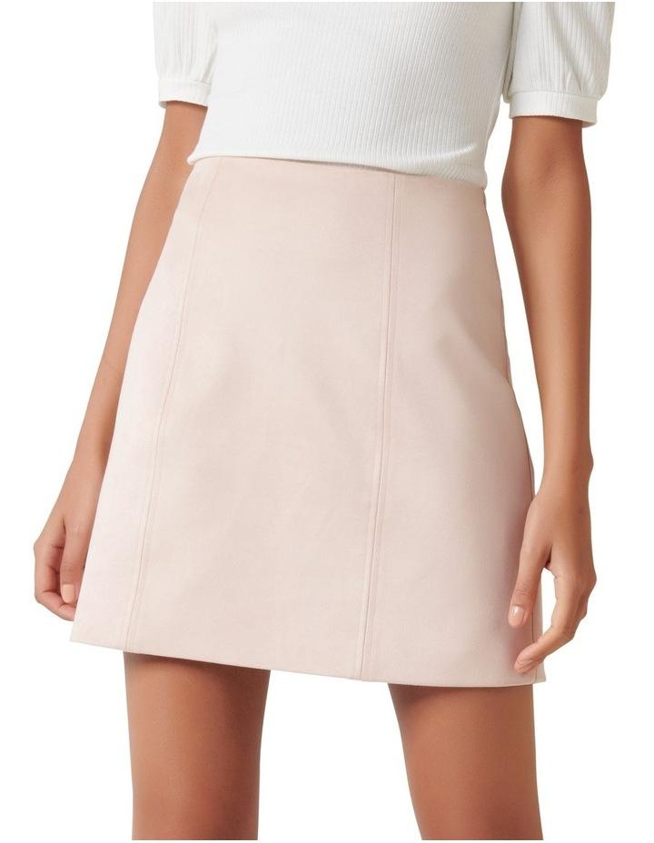 Scarlette Seamed Suedette Mini Skirt image 1