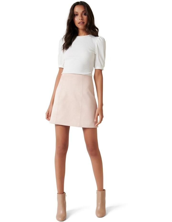 Scarlette Seamed Suedette Mini Skirt image 4