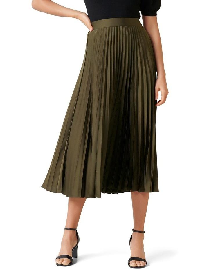 Ester Satin Pleated Skirt image 1