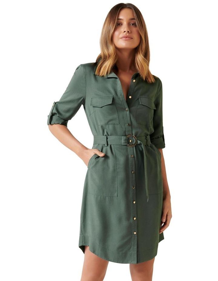 Portia Belted Shirt Dress image 1