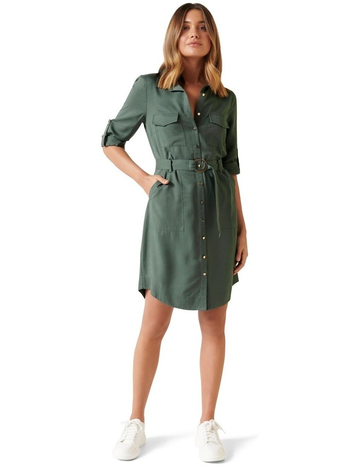 Portia Belted Shirt Dress image 4