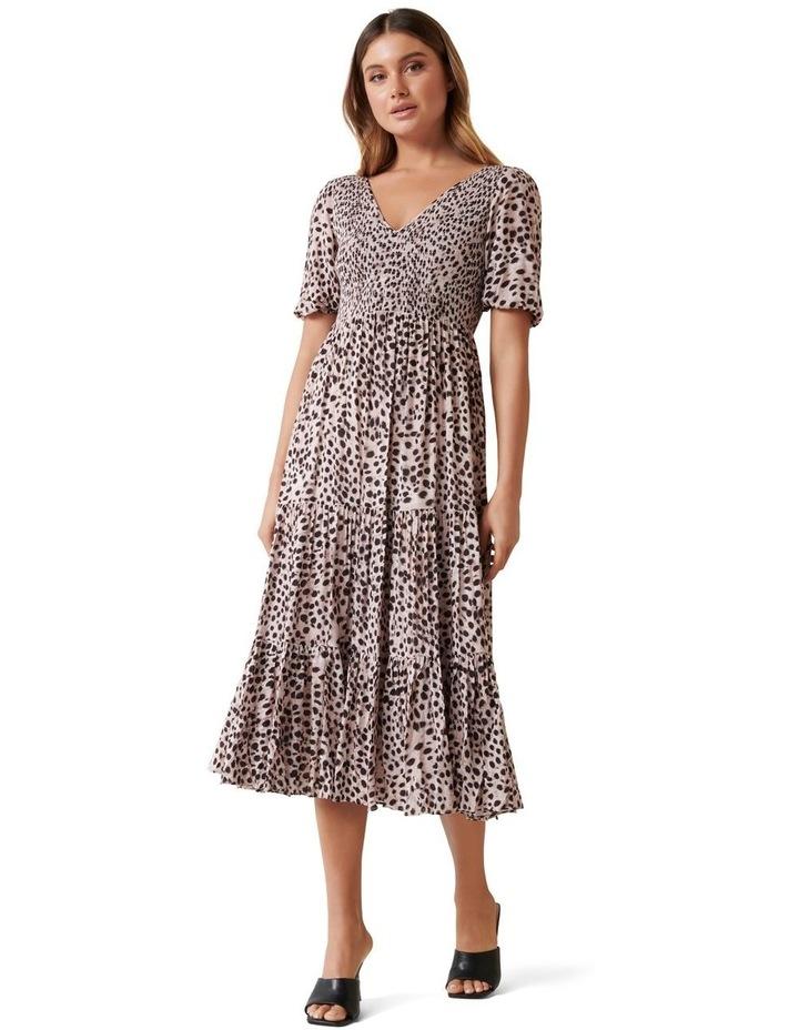 Amy Tiered Animal Midi Dress image 1