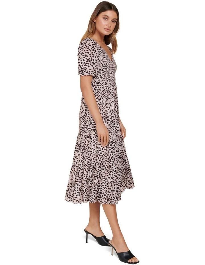Amy Tiered Animal Midi Dress image 2