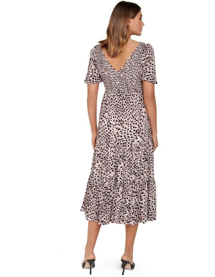 Amy Tiered Animal Midi Dress image 3