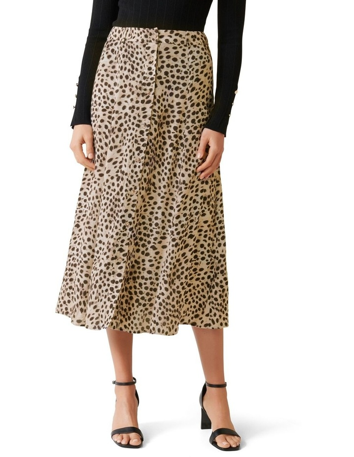 Alyssa Button Front Midi Skirt image 1