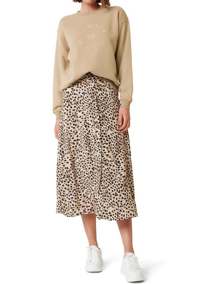 Alyssa Button Front Midi Skirt image 2