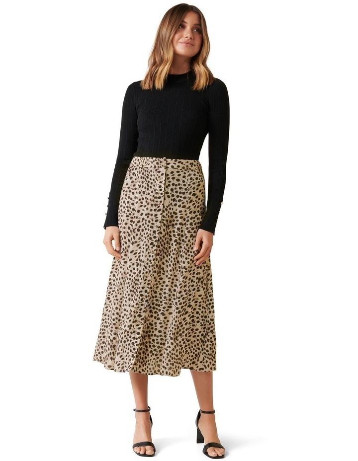 Alyssa Button Front Midi Skirt image 5