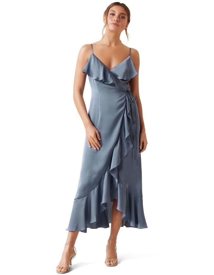Ivana Wrap Frill Midi Dress image 1