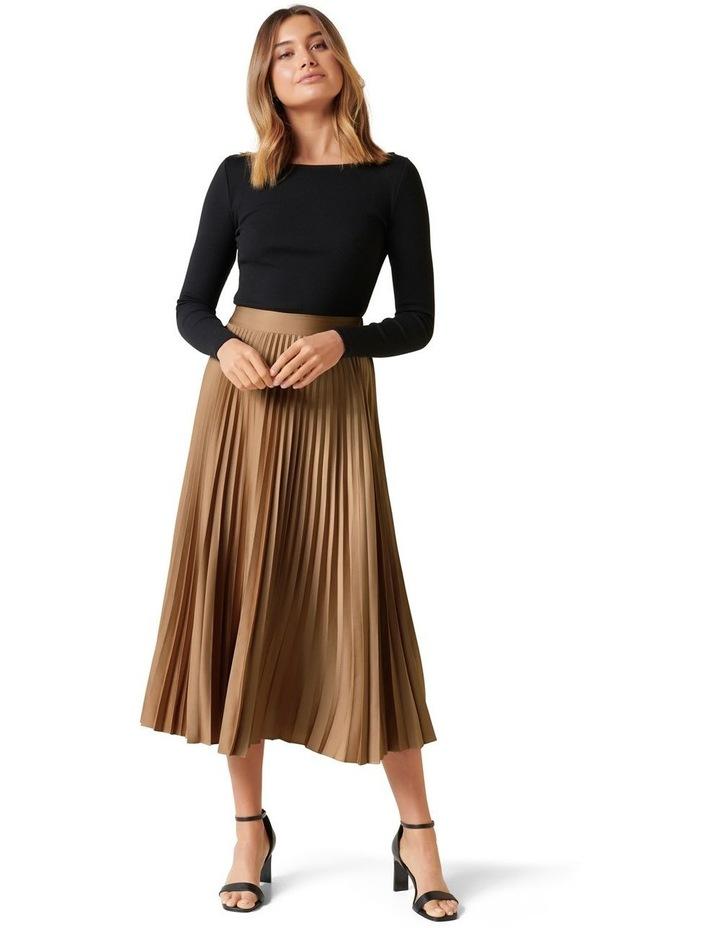 Ester Satin Pleated Skirt image 4
