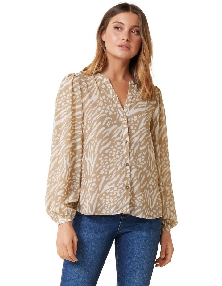 Milly Collarless Blouse image 1