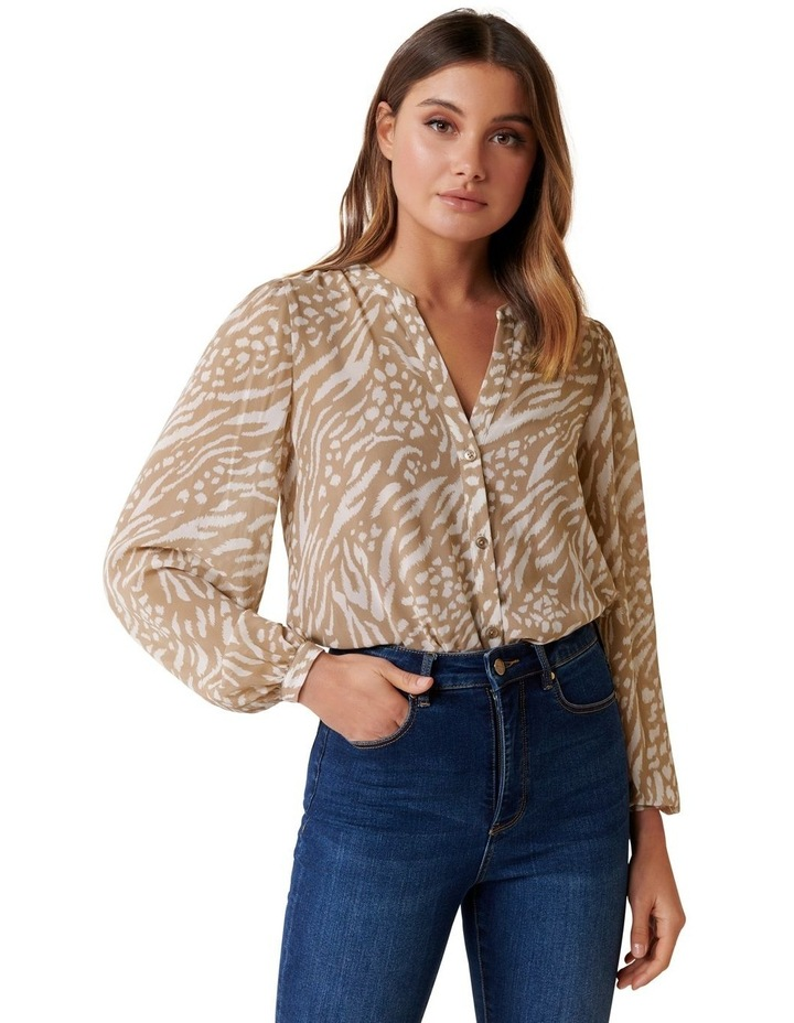 Milly Collarless Blouse image 2