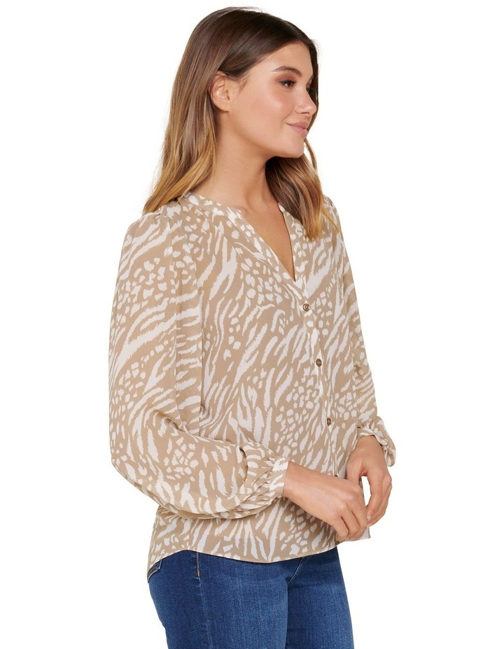 Milly Collarless Blouse image 3